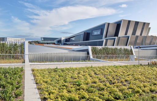 The outside of Aberdeen Exhibition and Conference Centre