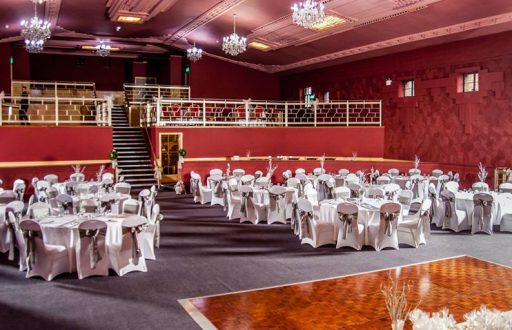 Burton Ritz grand hall can host up 850 guest