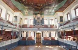 Venue space at in main theatre of Sheldonian Theatre, Oxford, UK